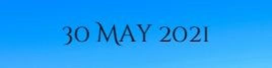 30 May 2021