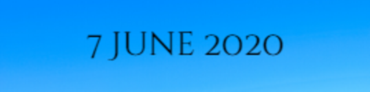 7 June 2020 1
