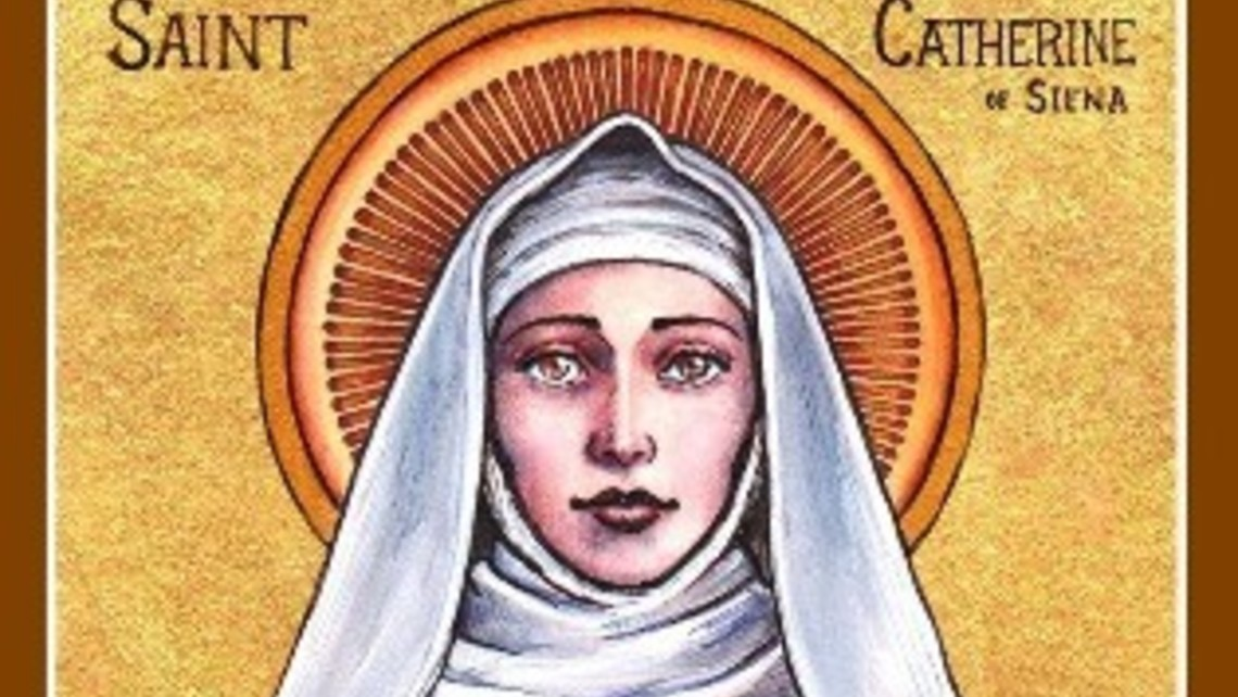 St Catherine Of Siena Icon By Lordshadowblade D63mz6l