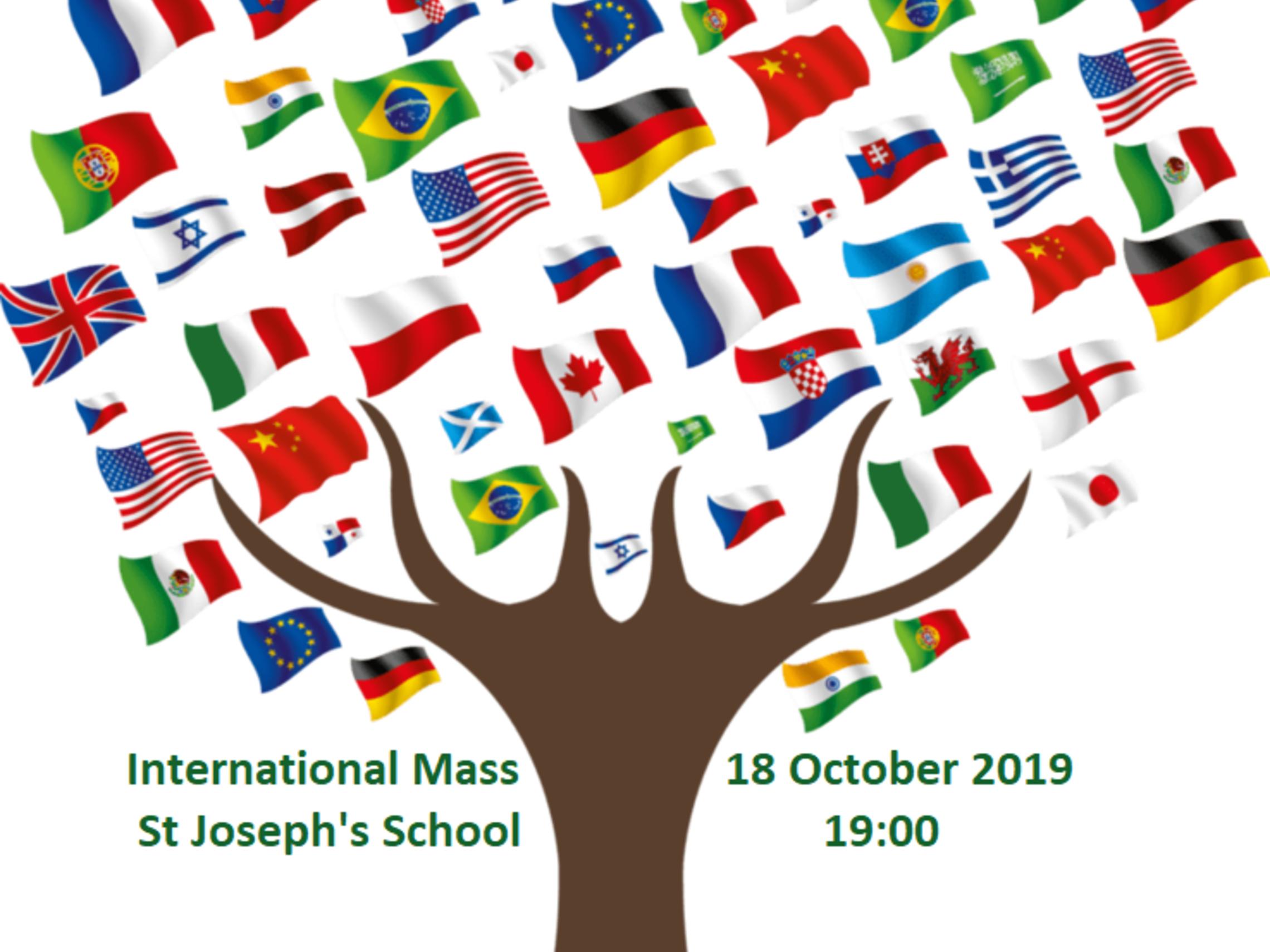 International Flag Tree Text 2